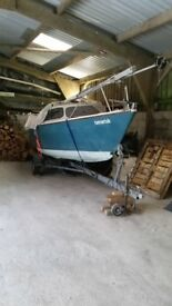 Excellent condition day Sailfish 18 Length 5.65m Beam 2.4m road trailer and new outboard engine
