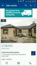 4 bed detatched bungalow with commercial m.o.t car repair centre
