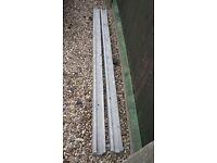 2 new concrete posts