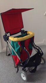 Toddler/ baby carrier with wheels