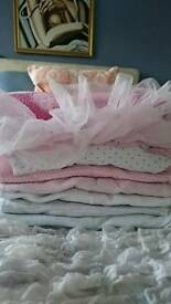 Next baby girl first size 0-3mths sleepsuits baby grows