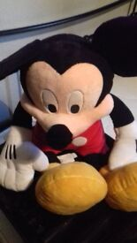 Large Mickey Mouse Soft Toy disney store new