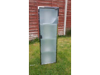 Stainless Steel Mirrored Bathroom Corner Cabinet with 4 Shelves