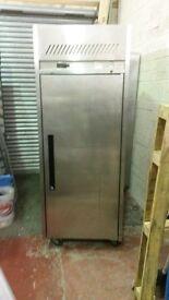 Single door stainless steel fridge