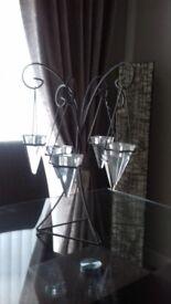 Pyramid tea candle holder