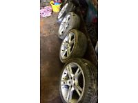 """17"""" 5x100 alloys with tyres"""
