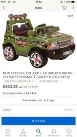Electric jeep/car
