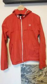 Red Fred Perry Kagoul style jacket
