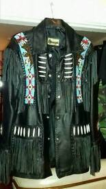 Men's leather country and wester jacket