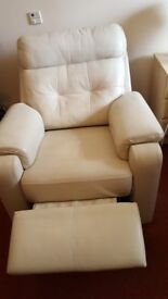 Cream Reclainer Armchair in Good condition