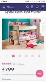 Storage bunk beds with stairs