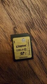 128GB SD Memory Card UHS-I Kingston SDA10