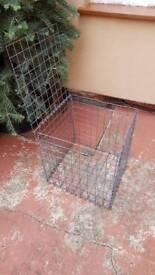 Metal cage box seat stone box storage cube
