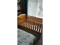 Babies R Us Henley cot bed .. few scrathes on headboard and leg, otherwise great condition!