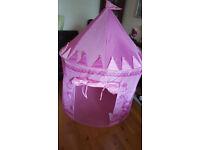 TRESPASS CHATEAU Fairytale castle Kid's Play Tent PINK