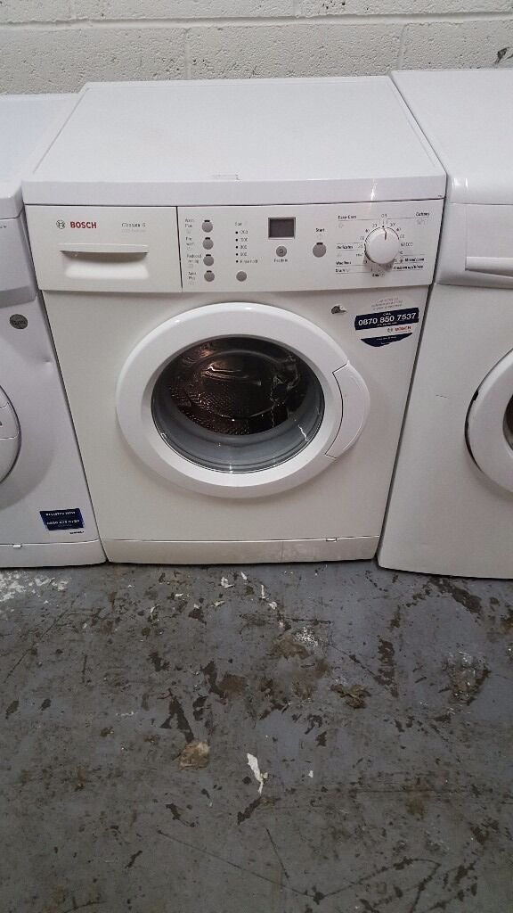Bosch lcd screen display washing machine with 6 months guaranteein Birmingham City Centre, West MidlandsGumtree - Bosch lcd screen display washing machine Bosch top make German made 1200 spin 6kg drum Lcd screen display Touch button Heavy duty Quick wash Very good clean condition Less then 12 months old 6 months guarantee Free delivery Free fitting Free pipes...