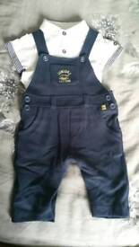 0-3 months Junior J Cute Dungaree outfit**only worn once!