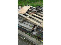 Free Wood and Plastic for pick up