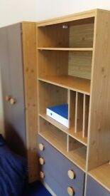 Matching Wardrobe, Headboard, Bookcase and 2 Bedside Cabinets