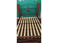 King size bedframe and mattress