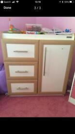 Mamas and papas changing station and storage