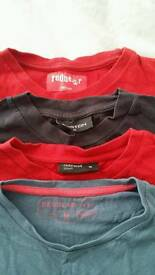 4 men varied medium t-shirts in very good condition - all for £6