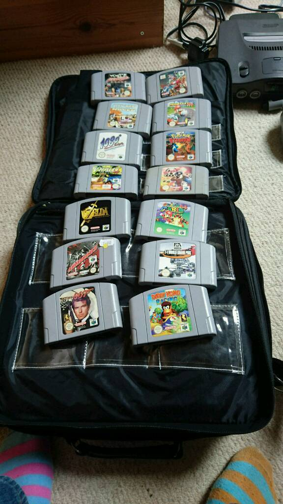 Nintendo N64 plus top gamesin Chipping Norton, OxfordshireGumtree - As pics show, decent titles, good working order, three controllers plys all leads and carry case