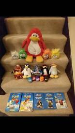 Club penguin, soft toys and books