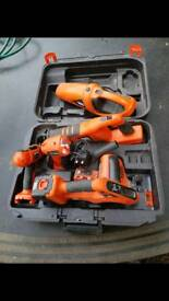 Black and Decker drill saw light vacuum jigsaw set cordless