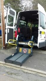 minibus , disability tail lift, very good condition, runs well, excellent on diesel, gearbox 5 speed