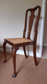 Vintage attractive Walnut Chair - bedroom or occasional chair