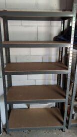 Racking Storage Heavy Duty Garage 5 Tier 90cm Steel Shelves Warehouse Black