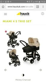 Hauck Miami 4s trio set/ pushchair/ pram/ travel system