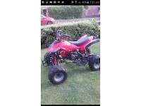 125 childs quad bike red like brand new!