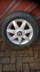 """Seat 15"""" Alloy wheels and tyres"""