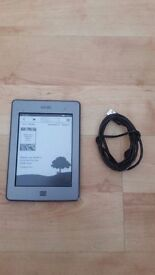 """Amazon Kindle Touch D01200 Wi-Fi 6"""" e-ink e-reader fully working grey"""