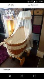 Wheeled crib