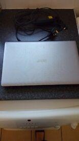 Acer aspire silver laptop Windows 7 office