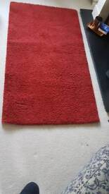 Rug, red, from Ikea