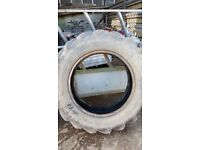 pair of rear used tyres size 12.4 / 11 - 28