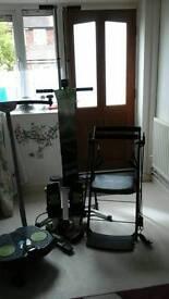 1X twist & shape 2 X gym chairs 1 maxi climber and one stepper machine NEW!!!