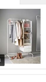 Ikea clothing rail white