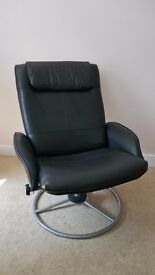 Black Reclining Office Chair
