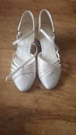 wedding shoes bride heels size 3 dancer