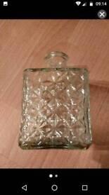Glass decanter bottle