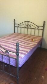Double bed with mattress great condition