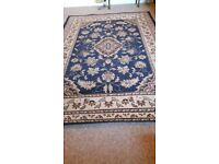 Large Rug - navy blue patterned