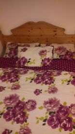 King Size Wooden Bed + (Free Mattress)