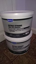 2x10L of Wickes Extra Strong Wall Tile Adhesive. Brand new, and unopened.