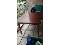 Victoiran wind out dining table and six matching chairs